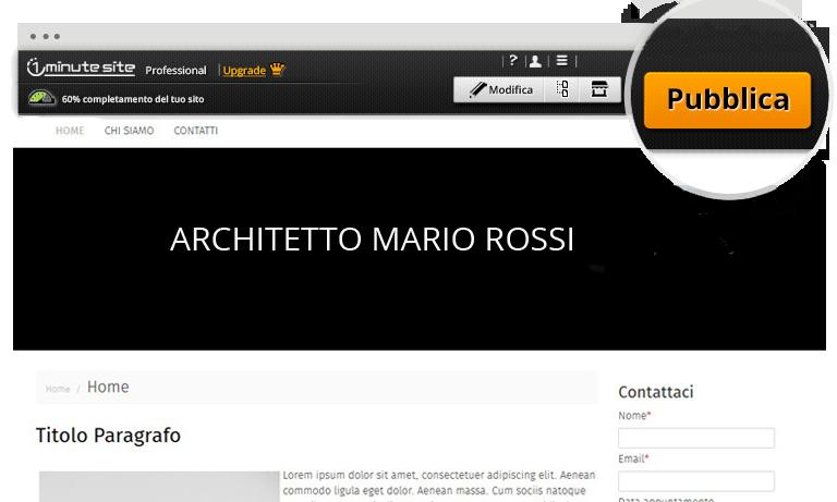 Creare sito web per architetti 1minutesite for Sito per architetti