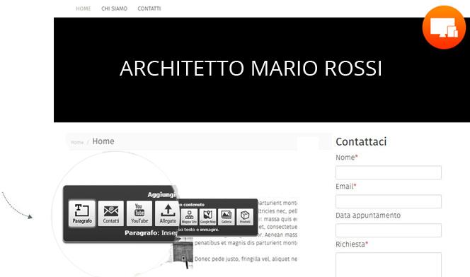 Creare sito web per architetti 1minutesite for Siti web di costruzione domestica