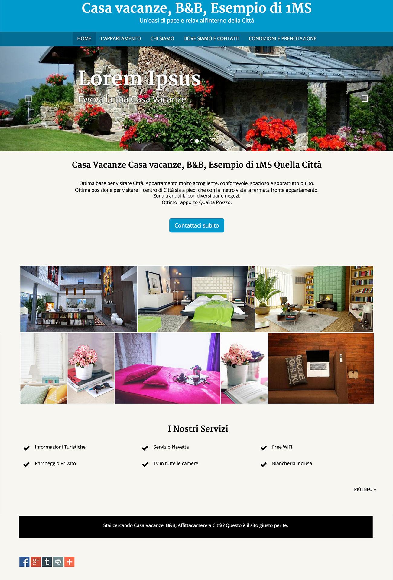Crea facilmente un sito web per le tue case vacanze ed for Sito web di costruzione di case