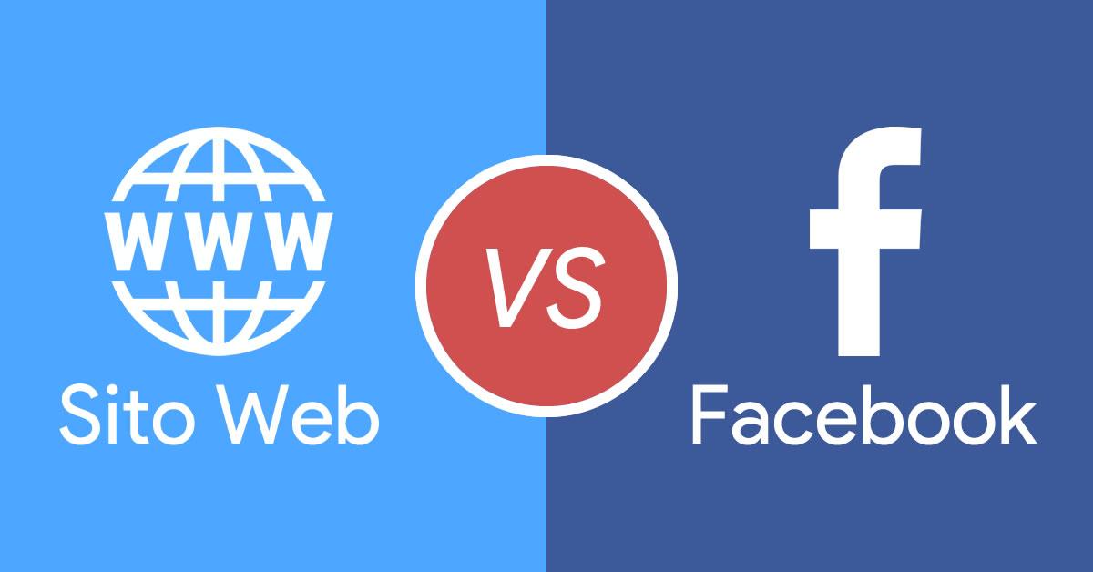 Sito vs Facebook - 3 motivi per cui avere un sito è ancora la scelta migliore